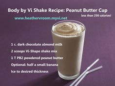 Two Vrooms: Body by Vi Shake Recipe: Peanut Butter Cup Pina Colada Protein Shake Recipe, Protein Shake Recipes, Smoothie Recipes, Protein Shakes, High Protein, Smoothie Diet, Fruit Smoothies, Healthy Smoothies, Healthy Breakfasts