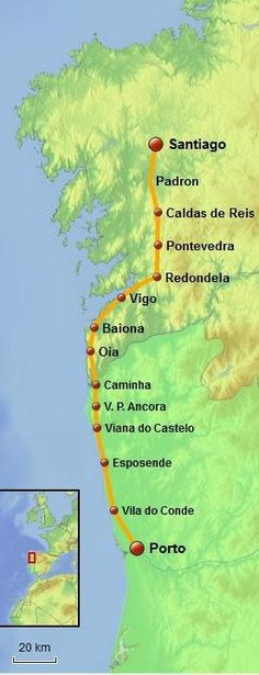 The Coastal Portuguese Camino de Santiago route involves some days walking by the ocean but most of this route is actually inland.Learn what to expect here.