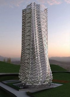 Atelier Manferdini. Fabric Tower. Guiyang, China