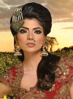Julie Ali :: Khush Mag - Asian wedding magazine for every bride and groom planning their Big Day Nose Jewels, Makeup Gallery, Bridal Gallery, Punjabi Bride, Party Makeup, Indian Bridal, Fashion Jewelry, Drop Earrings, Celebrities
