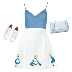 """""""blue"""" by tiba-m-mahmoud on Polyvore featuring Olympia Le-Tan and Michael Kors"""