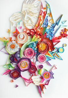 www.papiers-urbains.fr vous emmène à la découverte des oeuvres de Quilling de Yulia Brodskaya ©Artyulia