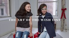 Lincoln Presents |The Art of The Wish List Lincoln, Wish, Presents, Feelings, Youtube, Tops, Women, Art, Fashion