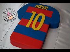 FC Barcelona Messi Trikot - Torte I Trikottorte I Fussballtrikot I Fondant Cake I Motivtorte - YouTube