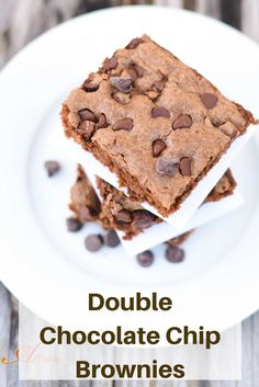 Satisfy your chocolate craving with Double Chocolate Chip Brownies. They're moist, delicious and perfect with a tall glass of milk.