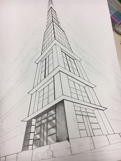 Dessin d'architecture - New Sites Architecture Drawing Sketchbooks, Architecture Concept Drawings, Architectural Drawings, Perspective Drawing Lessons, Perspective Sketch, 3 Point Perspective, Perspective Architecture, Kunst Portfolio, Isometric Drawing