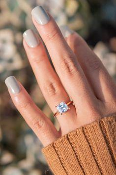 2 Carat Engagement Ring, Timeless Engagement Ring, Square Engagement Rings, Princess Cut Engagement Rings, Inexpensive Engagement Rings, Wedding Rings Rose Gold, Random, Jewelry, Jewlery