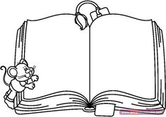 Open Book Black And White Clipart - Clipart Suggest Cute Coloring Pages, Free Coloring, Coloring Books, Kids Coloring, Charlie E Lola, Old Paper Background, Blog Backgrounds, Emoticons, Stills For Sale