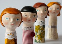 Great for puppets! The Constant Gatherer: Flor Panichelli Art Dolls