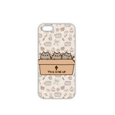 Iphone 4 Case for young people three pusheen cats in one box Iphone 4s... ❤ liked on Polyvore featuring accessories and tech accessories