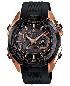 G-Shock Watch, Men's Chronograph Edifice Black Resin Strap 50x46mm EQS500CG-1A - All Watches - Jewelry & Watches - Macy's