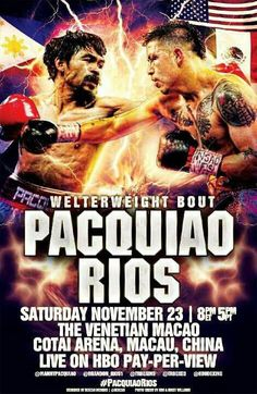 Boxing fans could get Pacquiao vs Rios live stream and have fun with this thrilling boxing match.
