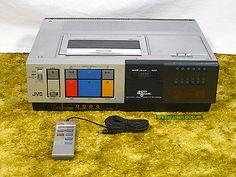 vintage JVC HR-7100U top loader VHS VCR 1984 serviced/new belts in VG Condition
