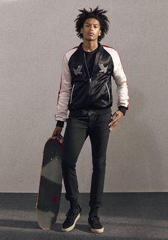 Today's Look: Souvenir Jacket. Photo: Topman. #ootd #menswear #mensfashion #mensstyle #instafashion #skateboard #souvenirjacket