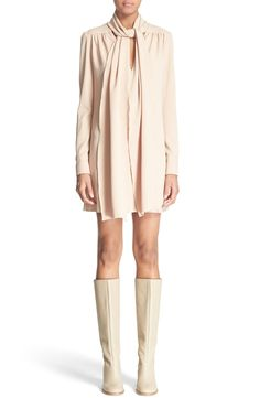 See by Chloé Tie Neck Crepe Dress available at #Nordstrom
