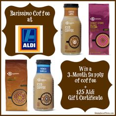 Aldi Barissimo Coffee and $25 Gift Certificate Giveaway