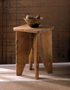 Arcadian Wood Stool FREE SHIPPING at Bargain Bunch!
