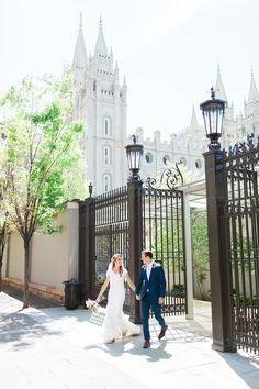 AK Studio Design | Abbey Kyhl | Cactus + Tropicals Reception | Salt Lake City Temple Wedding | Spring Floral Bouquet | Lace Wedding Dress | Emily + Landon Wedding | Salt Lake City Wedding Photography | AKStudioDesign.com