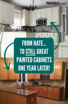 From Hate to STILL Great: Painted Cabinets One Year Later!  -practicallyspoiled.com