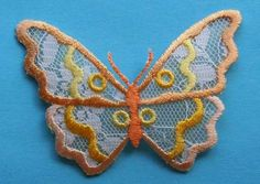 ID #2069 Butterfly Insect Embroidered & See Thru Iron On Badge Applique Patch #Unknown
