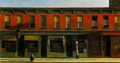 Edward Hopper, Early Sunday Morning, 1930 Whitney Museum of American Art, New York Alexander Calder, Nocturne, Mary Ellen Mark, Monet, Edward Hopper Paintings, New York City, Ombres Portées, Dylan Moran, Window Signs