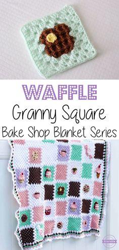 Crochet Waffle Granny Square: Bake Shop Blanket Series | Free Pattern from Sewrella