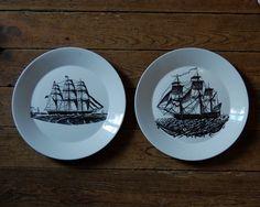 Vintage Nautical Plates by rhubarbandapples on Etsy, €19.00