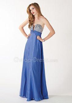 Organza Sweetheart A line Sleeveless Floor Length Prom Dresses