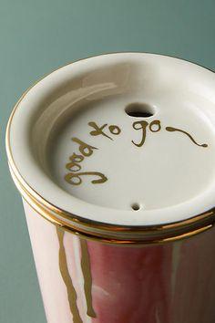 Love this mug :) Anthropologie Well-Wishing Travel Mug #anthropologie #anthrofave #anthrohome #mugs #coffeelovers #ad