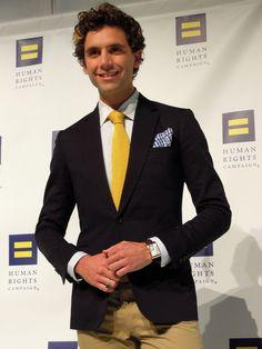 Mika + perfect yellow tie