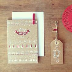 Feliz Navidad! Postales+etiquetas By designwithasmile.tumblr.com