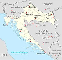 Croatie Carte   Recherche Google Dubrovnik