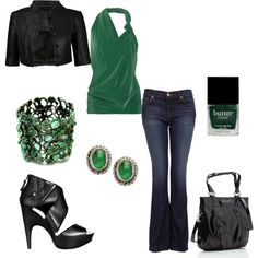 outfit..love the green