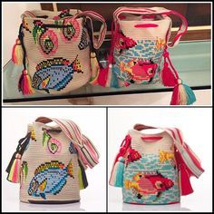 Wayuu Mochila bag fish