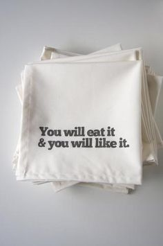 hahaha these would be great for my mom she said this too us all the time...