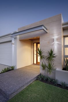Our extensive experience as a builder in Perth and across Western Australia has led to the creation of an exclusive range of popular home designs. House Front, My House, Facade Design, House Design, Building Exterior, Exterior House Colors, Western Australia, Perth, House Plans