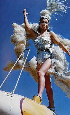 1950s Circus Performer Woman Aerialsist Airplane Acrobat Costume
