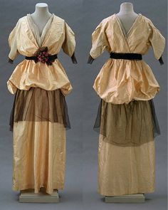 24-10-11  Jeanne Lanvin (1867-1946)   Woman's evening dress   Silk taffeta and net   About 1913