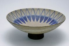 """RESERVED: Thomas Toft Danish Studio Pottery Footed Bowl at 10"""" Diameter Mid Century Art"""