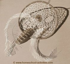 Native Indian crafts come alive with this simple how to make dream catchers tutorial.
