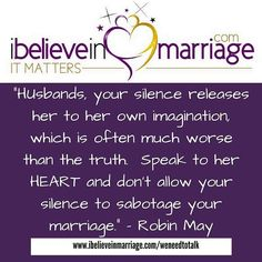Husbands, something to consider...#Weneedtotalk  #iBelieveInMarriage #IBIM #RobinMay #Marriage #Dating #Courting #Love #Support #Life #Counseling #Coaching #MarriageMatters #ChristianCouples #Couples
