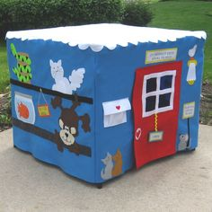 Pet Shop Felt Fabric Card Table Playhouse, Personalized, Custom Order. $220.00, via Etsy.