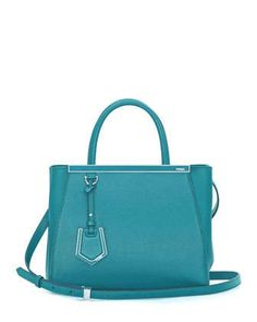 2Jours Petit Shopping Tote Bag, Aqua by Fendi at Neiman Marcus.