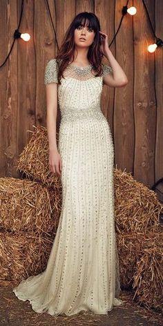 cap sleeves crystal vintage wedding dresses jenny packham