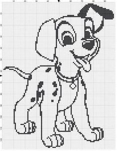 Filet Crochet Pattern - 101 Dalmatians Puppy door MoWeHappy op Etsy