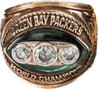 """1967 Green Bay Packers Super Bowl II Championship Ring Presented to Frederick """"Fuzzy"""" Thurston"""