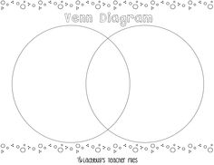 This is a new and improved venn diagram template it comes with this is a new and improved venn diagram template it comes with writing lines for the little ones who have a hard time with a traditional venn diag ccuart Image collections