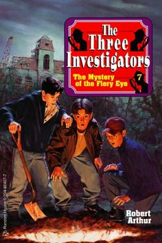 The Three Investigators must solve an old man's riddle to uncover a great fortune for their friend, Gus. But they're racing against a sinister bunch of treasure hunters who are also hot on the trail. Who will arrive first at the mysterious Fiery Eye?