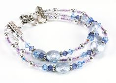 Free Jewelry Making Ideas   Jewelry Making Idea: Silver Moonlight Bracelet