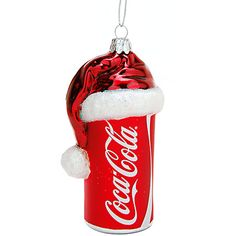 Santa Hat Topped Coca-Cola Can Ornament - Ornament Reviews